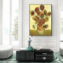 DQPCC Kunstdruck auf Leinwand Chrysantheme Blumen