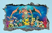 DQPCC Wandtattoos Cartoon Character Sticker