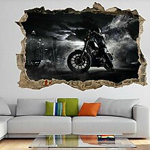 DQPCC Wandtattoos Motorcycle Motorcycle Mural Art