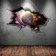 DQPCC Wandtattoos Spaceship Window Wall Art
