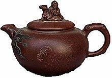 DQQQ Altes Porzellan-Teeset Yixing Berühmtes lila