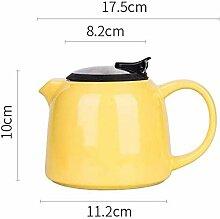 DQQQ Keramik Ton Teekanne Bunte Keramik Teekanne