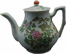 DQQQ Pastell Teekanne Blumenfigur Antikes
