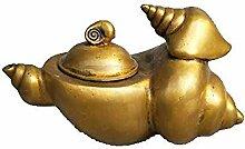 DQQQ Sammlung Messing Conch Teekanne Craft Statue