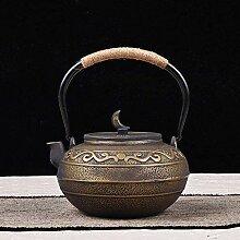 DQQQ Teekannen Emaille -Kessel 1.4L Gusseisen