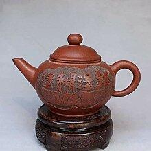 DQQQ Yixing Berühmtes Lila Sand Teekanne Teese