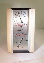 Dr. Friedrichs 947210 - Sauna Thermometer und Hygrometer 125 x 205 x 35 mm Buche / Alu