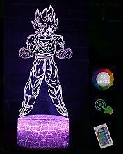 Dra·gon B·All Go·ku 3D Nachtlicht Led Lampe,