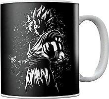 Dra-gon Ba-ll Z Saiyan Go-ku Ceramic Coffee Mug
