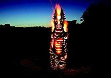 Drache Feuer Metall feuertonne feuersäule