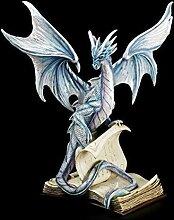 Drachen Figur auf Büchern groß - Wächter der