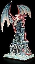 Drachen Figur groß - Greift Burg an -