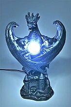 Drachen mit LED Lampe *33 cm* Figur diverse Farben Dragon Deko