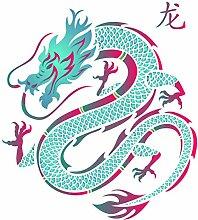 Drachen-Schablone – wiederverwendbare