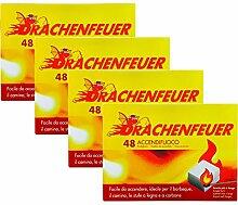 Drachenfeuer 4 Pakete 192 Würfel Feueranzünder