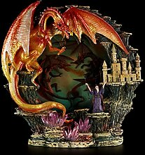 Drachenfigur - Beleuchtetes Drachenrelief zum