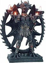 Drachenfigur mit 4 Teelichthaltern Deko Fantasy