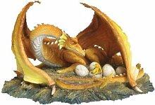 Drachenfigur - The Brood - Drache Figur mit Jungen