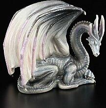 Drachenfigur - Wise Old Dragon blau-grau Edition -