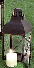 Dragimex, 100807, Laterne, Metall, Glas, schwarz