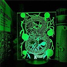 Dragon Ball Shenron Anime 3D Lampe Illusion LED