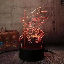 Dragon Ball Son Goku 3D Nachtlicht