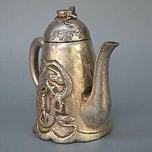 Dragon Yin Kyushu Flachmann Wasserkocher Teekanne