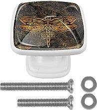 Dragonfly Mandala Kommode Griff mit Schrauben