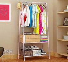 Dragonmys UK- Günstige Kleiderständer, einfache Garderobe, Schlafzimmer Boden Kleiderbügel, einfache Einstabstange (Farbe : Pink)