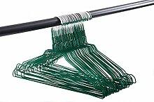 Draht-Kleiderbügel mit Rockkerben 50er Pack 40 cm breit, Farbe:grün