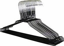 Drahtbügel von KleinesKaufhaus24 - Top Qualität aus hochwertiger Zink- und farbiger Pulverbeschichtung - Hochwertige Drahtkleiderbügel für Sie und Ihn (100, schwarz)