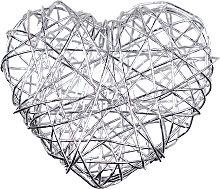 Drahtherzen - 50 Stück - silber - Eurosand Herzen aus Draht
