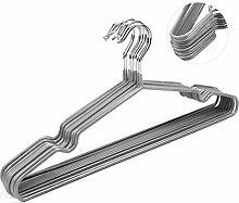 Drahtkleiderbügel mit grauer Kunststoffummantelung ca 40 cm breit 10,20 oder 40 Stück (40 Stück)