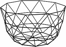 Drahtkorb Avara, 31x17cm (DxH), schwarz, Metall 1