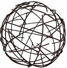Deko Drahtkugel Kugel Rost Metall Edelrost Garten Frühling Rostfigur Dekoration
