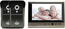 Drahtloses Sichtkontakt-Haus-Türklingel-Überwachung-Video entriegeln , 7 inch