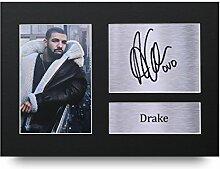Drake SIGNED A4gedrucktem Autogramm Musik Druck Foto Bild Präsentation Display–tolle Geschenkidee
