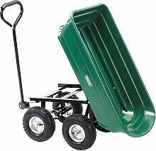 DRAPER Kippmulde-Gartenwagen mit Kippfunktion,
