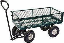 DRAPER Stahlgeflecht-Gartenwagen,-grün