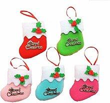 drawihi 6x Weihnachten CALCETIN Lagerung Inhaber Süßigkeiten Weihnachtsgeschenk Ferienhaus Dekoration