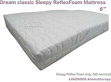 Dream Classic Sleepy Reflex Matratze 15,2cm Durable Matratze–Lavendel Luxus Cover, violett, Super King