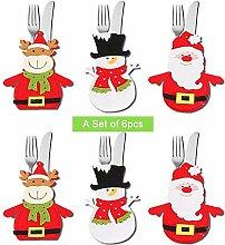 Dream Loom 6PCS Christmas Besteck Taschen,