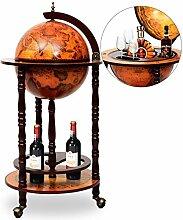 DREAMADE Globus Bar Hausbar, Barwagen Minibar mit