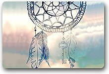 Dreamcatcher Feather and Key Decor Rutschfester