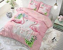 dreamhouse Bettwäsche Baumwolle Flamingo, 200cm x