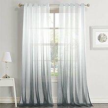 Dreaming Casa Farbverlauf Transparent Vorhang Grau