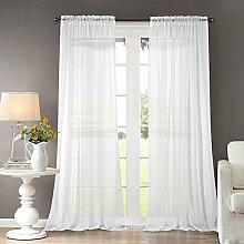 Dreaming Casa Gardinen für Wohnzimmer, Weiß, mit