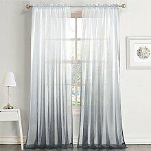 Dreaming Casa Transparent Farbverlauf Vorhang Grau