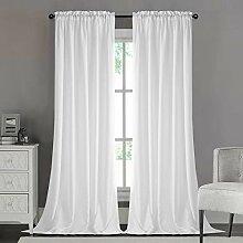 Dreaming Casa Vorhang Blickdicht Seidenoptik Weiß