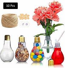 DreamJing Glühbirne Kunststoff Flaschen 200ML,10